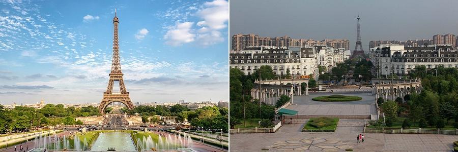 برخی شهرهای چین که از نمونه اروپایی آن کپی شده اند