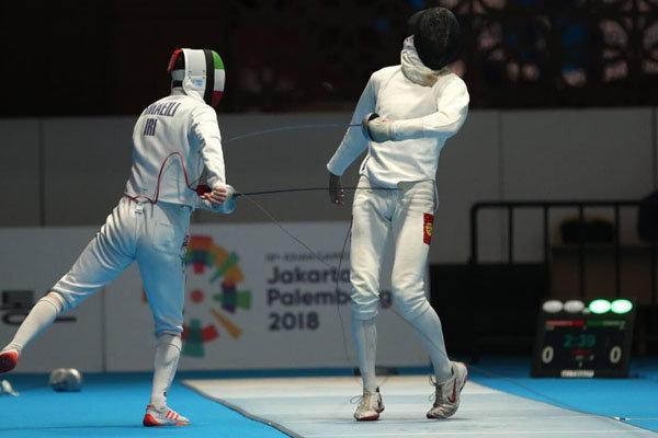 هشتمی تیم ملی شمشیربازی اپه در بازی های آسیایی