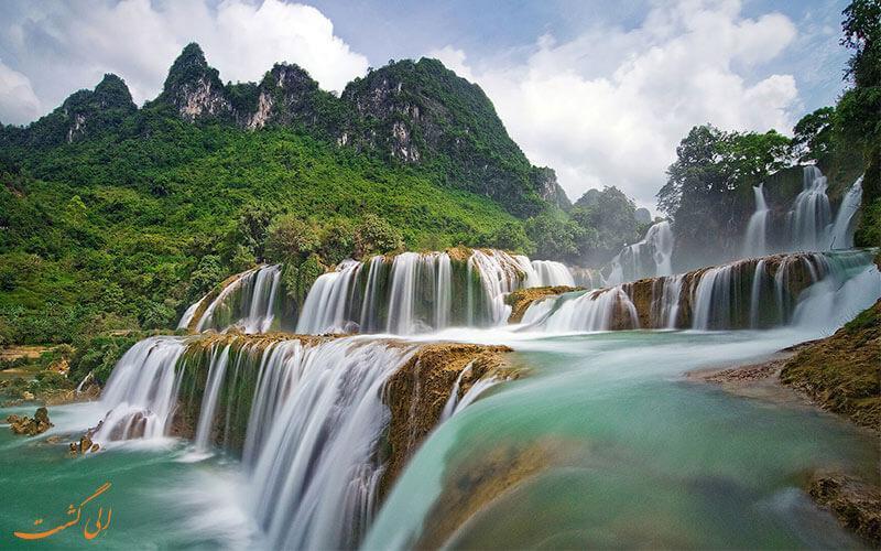 آبشارهای بن گیوک جاذبه ای خیره کننده در ویتنام!