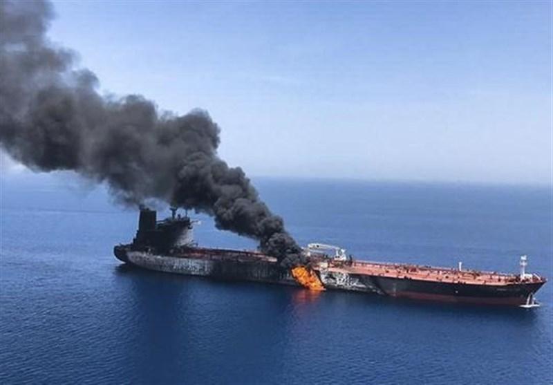 خدمه نفتکش آسیب دیده در دریای عمان اکنون در دبی هستند