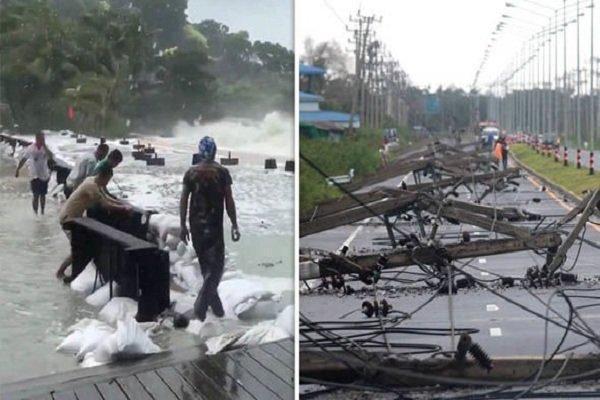 طوفان پابو در تایلند 5 کشته و 30 هزار آواره درپی داشت