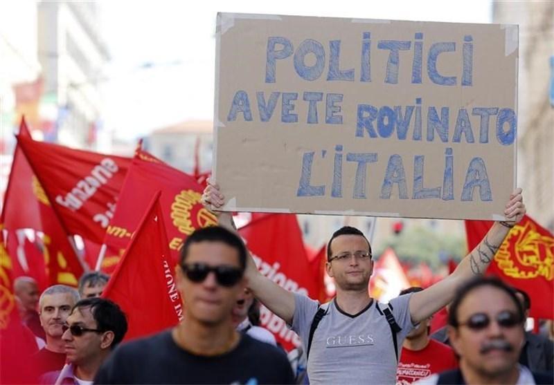تظاهرات گسترده در حمایت از افزایش اشتغال و کاهش مالیات در ایتالیا