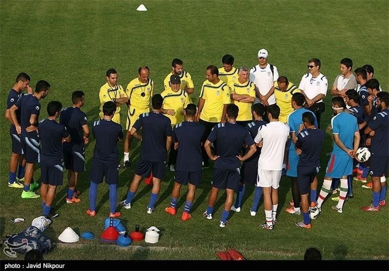 برگزاری تمرین تیم امید با ترکیب کامل، شاگردان وینگادا فردا با چین بازی می نمایند