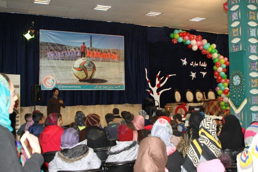 یلدا، مهمان جمع بچه ها کار در کوره پزخانه های شمس آباد شد