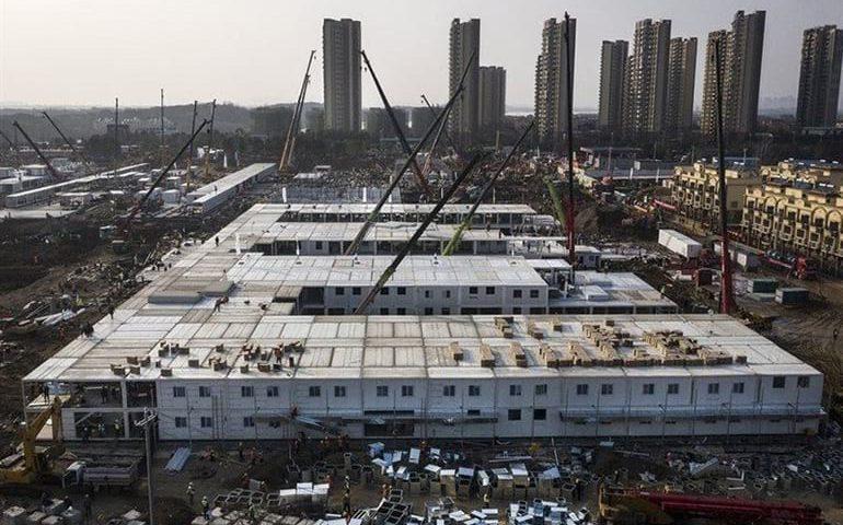 انتها ساخت بیمارستان 1000 تختخوابی در چین