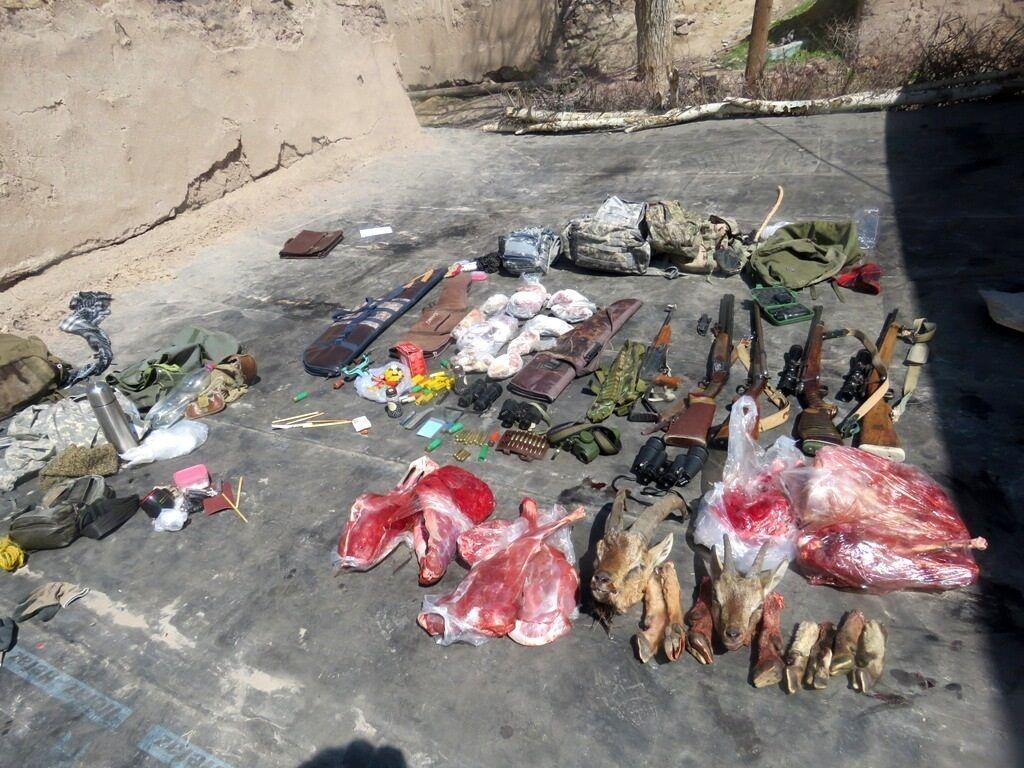 خبرنگاران اعضای باند حرفه ای شکار غیرمجاز در آق داغ خلخال دستگیر شدند