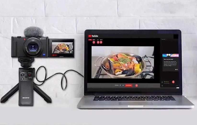 سونی قابلیت وب کم را به دوربین های خود اضافه نمود