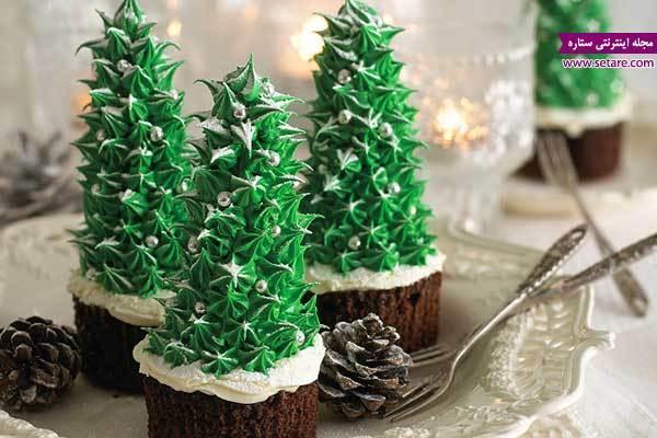 ایده تزیین کاپ کیک با تم کریسمس