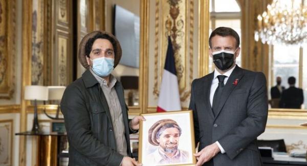 ملاقات پسر احمدشاه مسعود با رئیس جمهور فرانسه