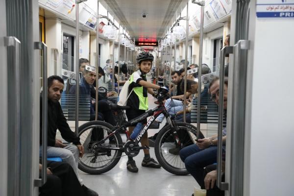استفاده دو هزار و 502 دوچرخه سوار از مترو در سال 99