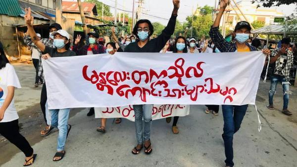 میانمار؛ اعتصاب معلمان و دانشجویان علیه کودتاچیان