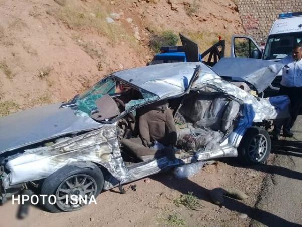 5 کشته و 11 مصدوم در پی برخورد سواری حامل اتباع افغانستان با تریلر